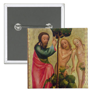 God the Father Punishes Adam and Eve 2 Inch Square Button