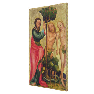 God the Father Punishes Adam and Eve Canvas Print