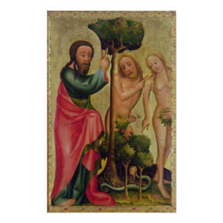 God the Father Punishes Adam and Eve Poster