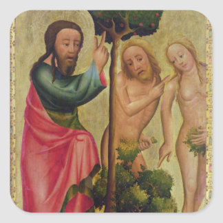 God the Father Punishes Adam and Eve Square Sticker