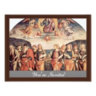 """God The Father With The Prophet And Sibyl 4.25"""" X 5.5"""" Invitation Card"""