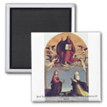 God The Father With The Sts. Fridge Magnet