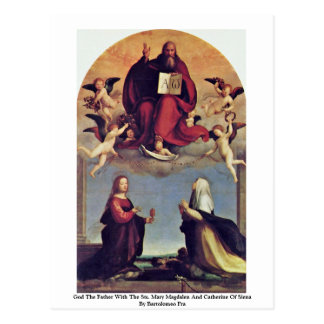 God The Father With The Sts. Postcard