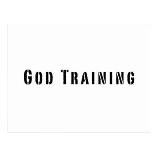 God training postcard