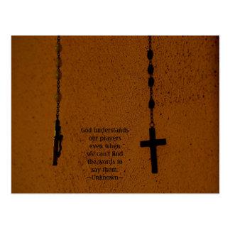 God understands our prayers even whe... postcard