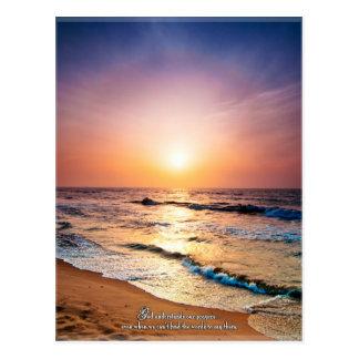 God understands our prayers even when... postcard