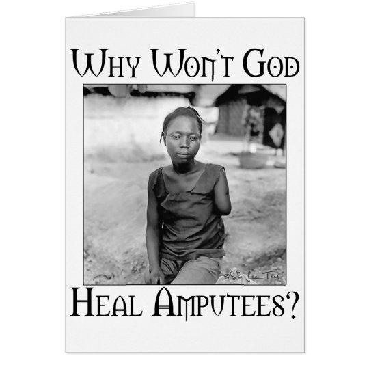 God vs Amputees Card
