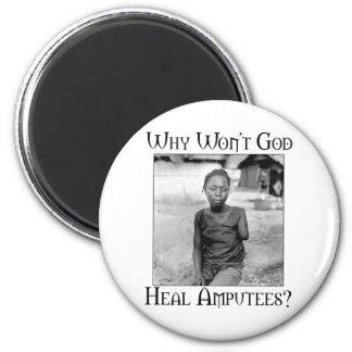 God vs Amputees Refrigerator Magnets
