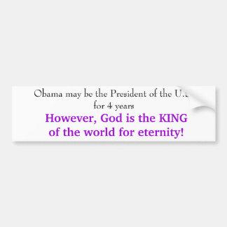 God vs. Obama Car Bumper Sticker
