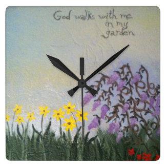 """God Walks....."" Clock"