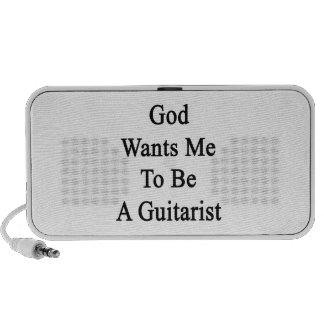 God Wants Me To Be A Guitarist Notebook Speakers