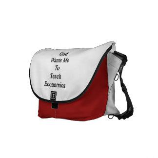 God Wants Me To Teach Economics Messenger Bags