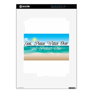 God watch over me.jpg skin for the iPad 2