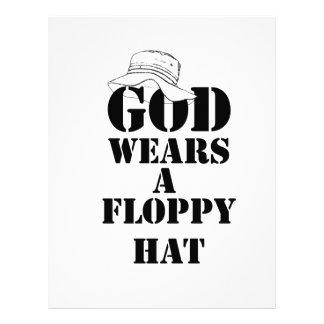 God Wears A Floppy Hat Design Two Letterhead