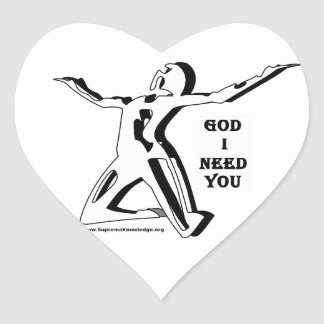 God Where Are You I Need You Now Heart Sticker