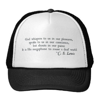 God Whispers to us in our Pleasures Trucker Hat