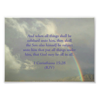 God will be All in All Photo Print