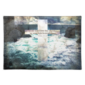 God will calm the storm in your life to a whisper placemats