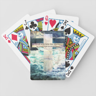 God will calm the storm in your life to a whisper deck of cards