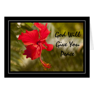 God Will Give You Peace Greeting Card