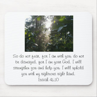 God will help you. mouse pad