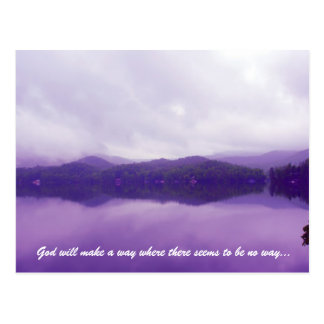 God will make a way where there seems to be no way postcard