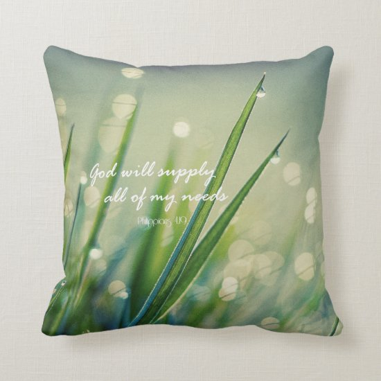 God Will Supply Bible Verse Throw Pillow