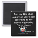 God will supply your need gotGod316.com Scripture Fridge Magnet