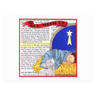 God With Us Inspirational Postcard
