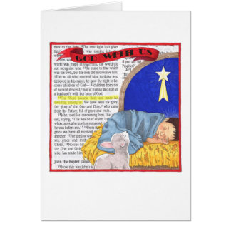 God With Us Personalized Christmas Card