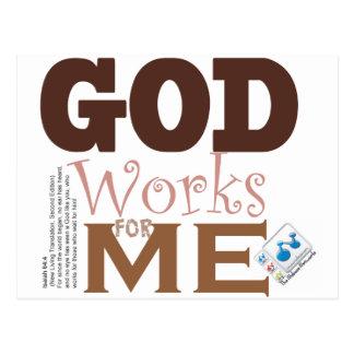GOD works for me Postcard