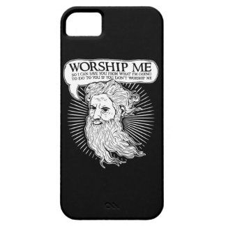 God: Worship me so I can save you from me iPhone SE/5/5s Case