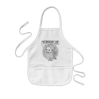 God: Worship me so I can save you from me Kids' Apron