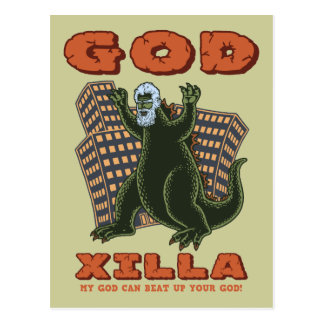 God Xilla Postcard