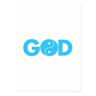 God Yin Yang Postcard