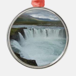 Godafoss Iceland Metal Ornament