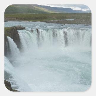 Godafoss Iceland Square Sticker