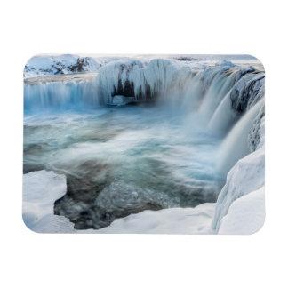 Godafoss waterfall, winter, Iceland 2 Magnet