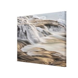 Godafoss waterfall, winter, Iceland 3 Canvas Print
