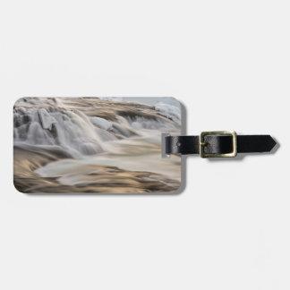 Godafoss waterfall, winter, Iceland Luggage Tag