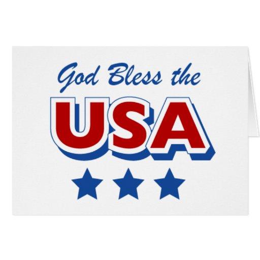 Godbless los E.E.U.U. Tarjeta De Felicitación