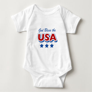Godbless the USA Baby Bodysuit
