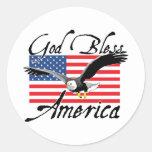GodBlessAmerica_v3 Round Sticker