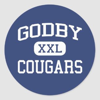 Godby - Cougars - High - Tallahassee Florida Classic Round Sticker