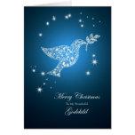 Godchild, Dove of peace Christmas card