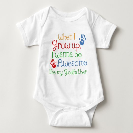 Godchild Gift Awesome Godfather Baby Bodysuit
