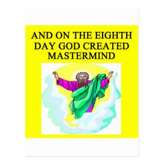 godcreated mastermind postcard