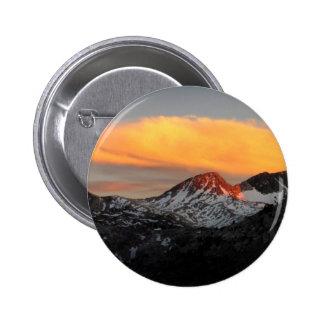 Goddard Divide Alpenglow - John Muir Trail Button