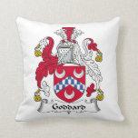 Goddard Family Crest Throw Pillow