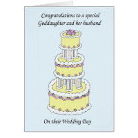 Goddaughter and husband Wedding Congratulations Card